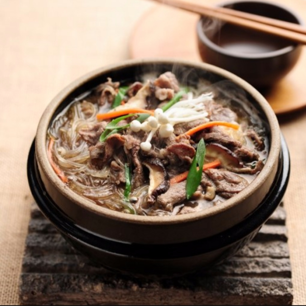 Have you tried korean food? what is your favorite korean food? | bulgogi, (sliced and seasoned) barbequed beef