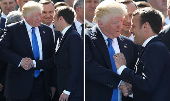 Which is Donald Trump's best Handshake of four? | With Emmanuel Macron